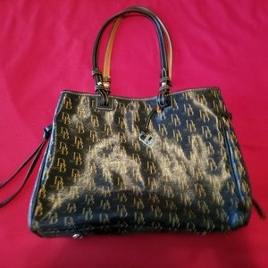 Dooney & Bourke Signature Coated Cotton Double Han